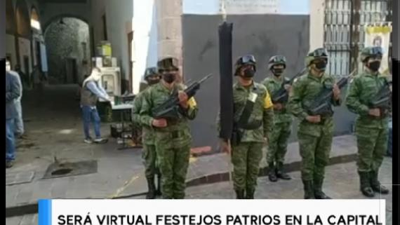 Será virtual festejos patrios en la Capital.